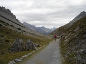 Auffahrt beim Alpencross