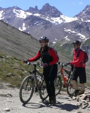 Mountainbiker Claudia und Ralf