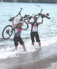 Mountainbiker Jennifer und Markus