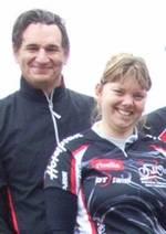 Mountainbiker Julia und Daniel