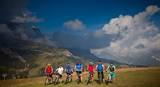 Mountainbiker vor Sellamassiv