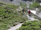 65 Trail nach dem Pass